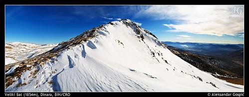 blue winter sky mountain snow bat ridge pyramide bosniaherzegovina veliki dinara dinaricalps dinaridi aleksandargospic