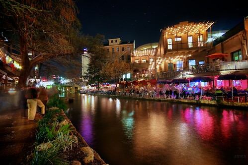 colors sanantonio reflections lights texas shops hdr riverwalk
