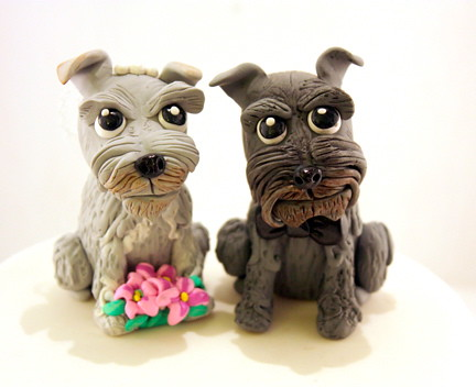 Schnauzer Wedding Cake Toppers