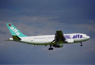 Air Alfa Airbus A300B4-103; TC-ALN@ZRH;10.07.1997