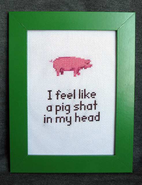 I feel like a pig shat in my head | A line from the film ...