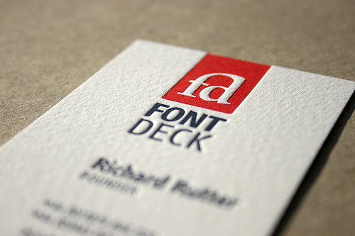 Fontdeck Business Card