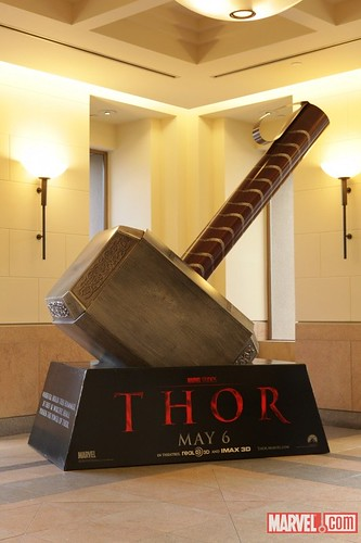 Thor movie standee