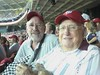 Dad and I at Nationals Baseball Game by ghbrett