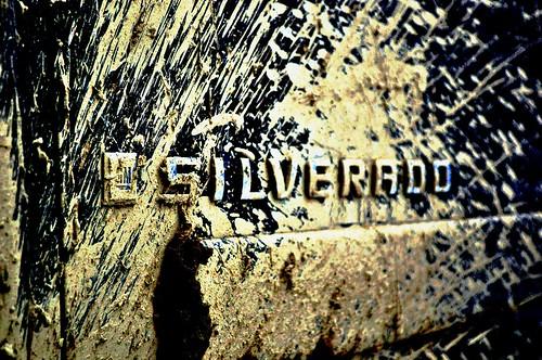 Muddy Chevy Silverado Emblem