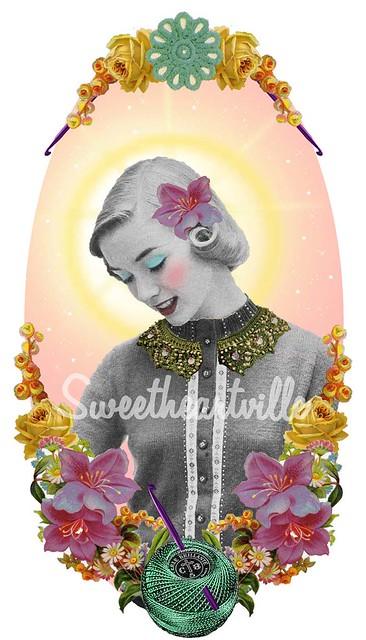 st. charlotte, patron saint of crochet