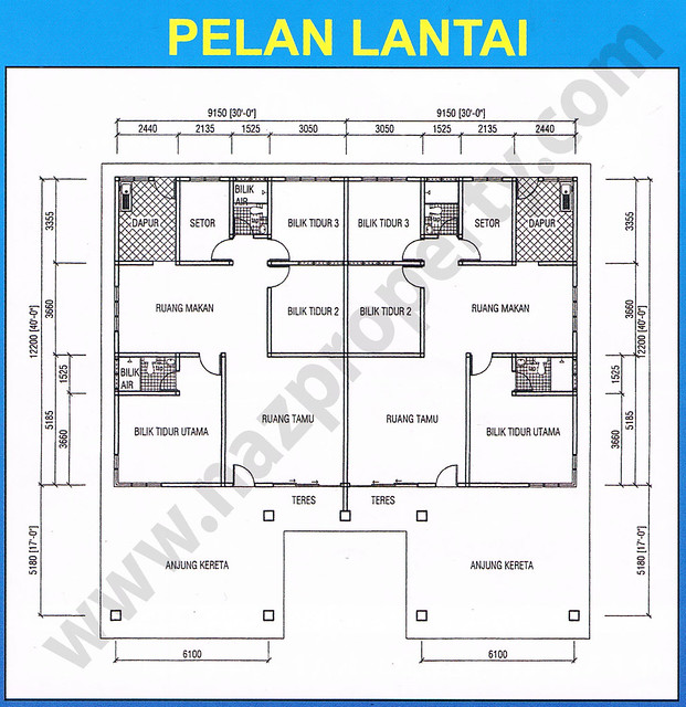 Plan Rumah Semi D http://www.flickr.com/photos/34045778@N02/5543154568