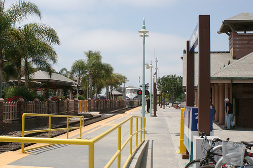Carlsbad Village Station - Train coming