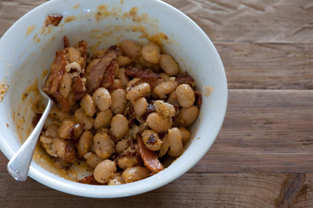 w3 butter bean 'cabonara'