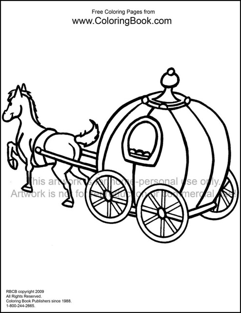 santa horse buggy coloring pages - photo#12