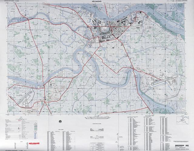 Bản đồ Hải Phòng 1968 Tỷ lệ 1/15.000