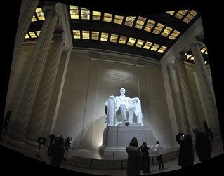 Lincoln Memorial - March 2011 6 Stitched Images