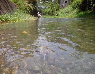 五溝水村清澈的河流