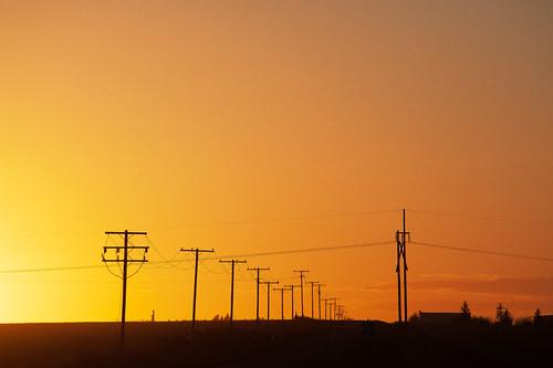 saskatchewan glow light powerline rural shadow silhouette sunset assiniboia canada