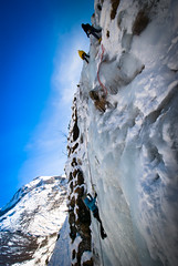 adventure(1.0), individual sports(1.0), sports(1.0), recreation(1.0), outdoor recreation(1.0), mountaineering(1.0), sport climbing(1.0), extreme sport(1.0), ice climbing(1.0), climbing(1.0),