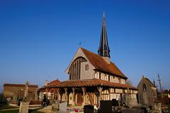 Bailly le Franc (Aube - France), église à pans de bois du XVI e siècle