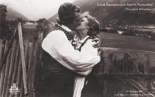 Karin Molander, Lars Hanson in Synnöve solbakken