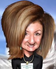 Arianna Huffington - Caricature