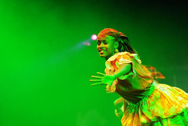 Dancing through the green light...