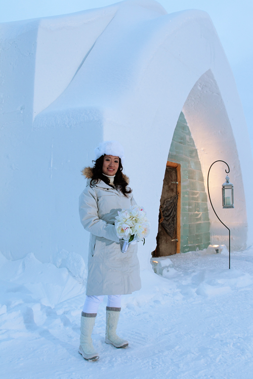 Jen Choi Design My Wedding At The Ice Hotel In Quebec