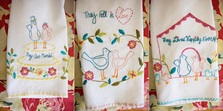 Diy anthropologie tea towel art a vintage hankie canopy