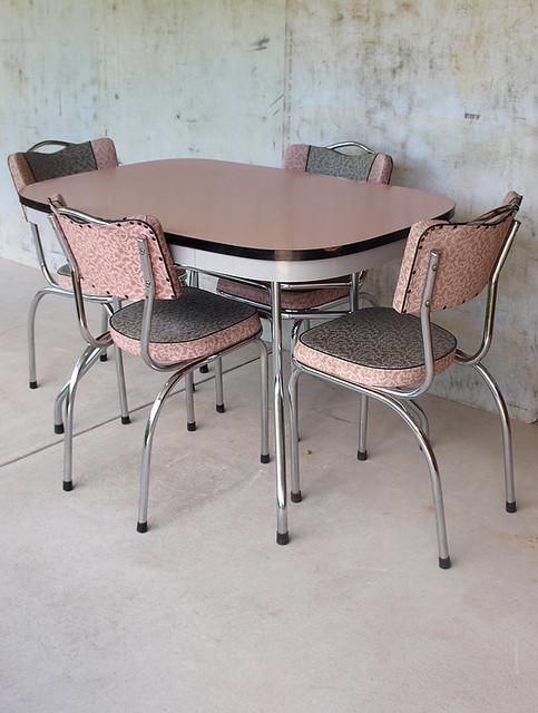 1950s retro pink laminex kitchen set flickr photo sharing. Black Bedroom Furniture Sets. Home Design Ideas