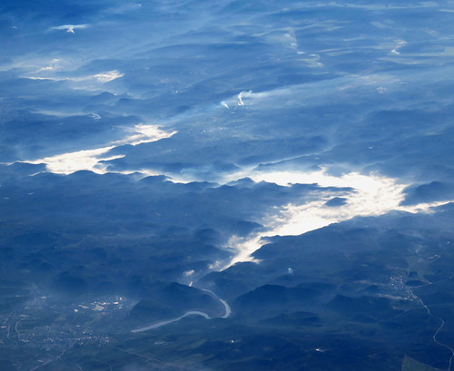 Mist over Guadalhorce / Guadalteba reservoirs , Spain