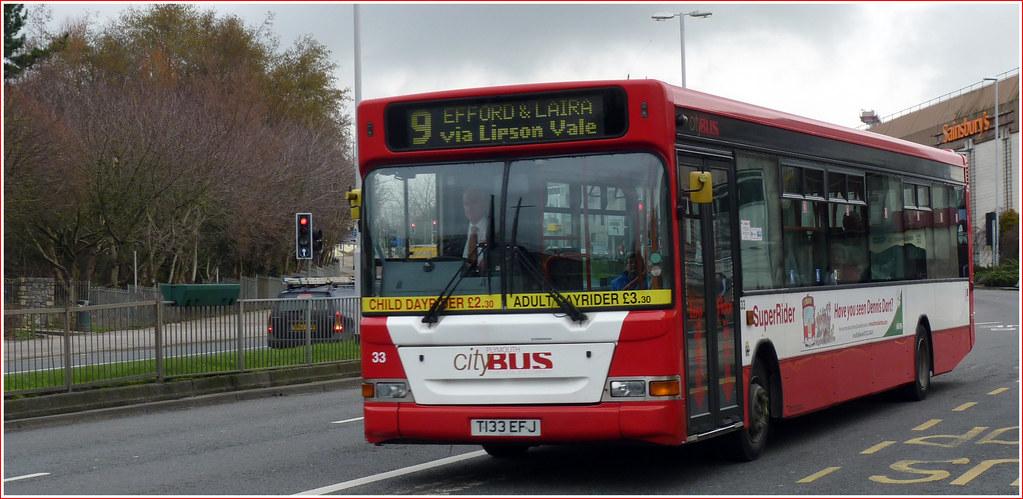 Plymouth Citybus 033 T133EFJ 22 February 2011