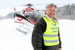 Jon Erik Sogn fra Heliwing fløye hele redaksjonen over løypene i Holmenkollen