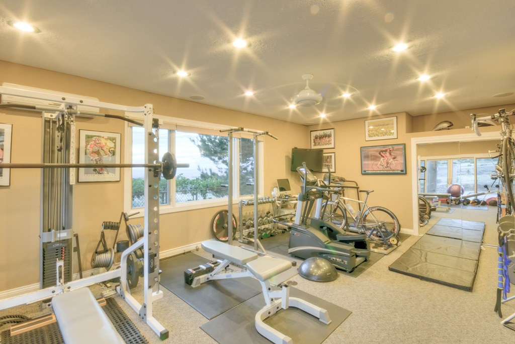 High desert luxury home gym flickr photo sharing for Luxury home gym