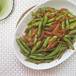 Green Beans with Sambal Ikan Bilis
