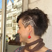 asymmetric haircut with texture