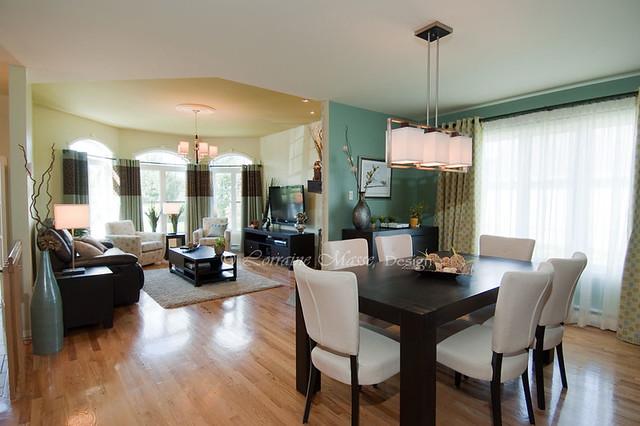 Salle diner et salon aire ouverte une d coration dans flickr photo sharing - Couleur cuisine salon air ouverte ...