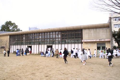 福島市内 小学校避難所