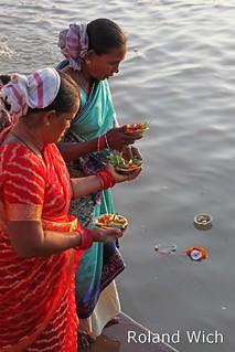 Varanasi - Floating Lanterns in the Ganges