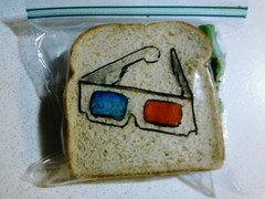 Blue & red 3d glasses