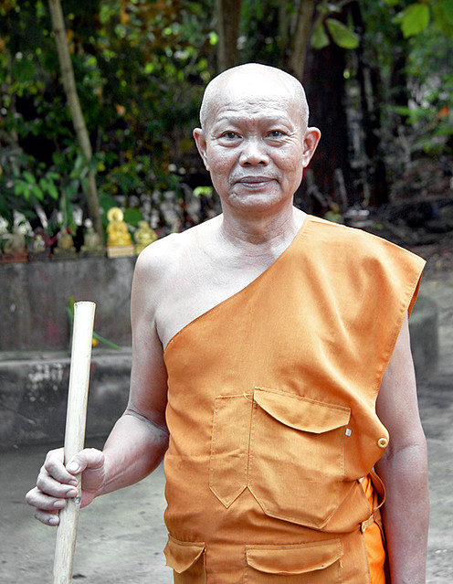 Monk at Sam Kong Temple, Phuket