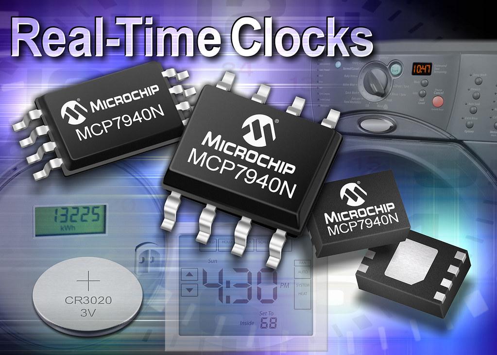Компания Microchip представила новое устройство семейства часов реального времени - MCP7940N.