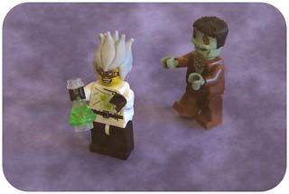 Funny lego scientist