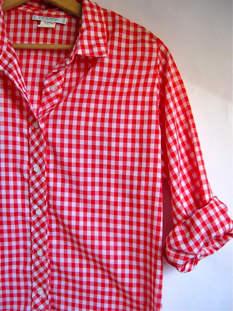 red and white gingham farm girl shirt flickr photo