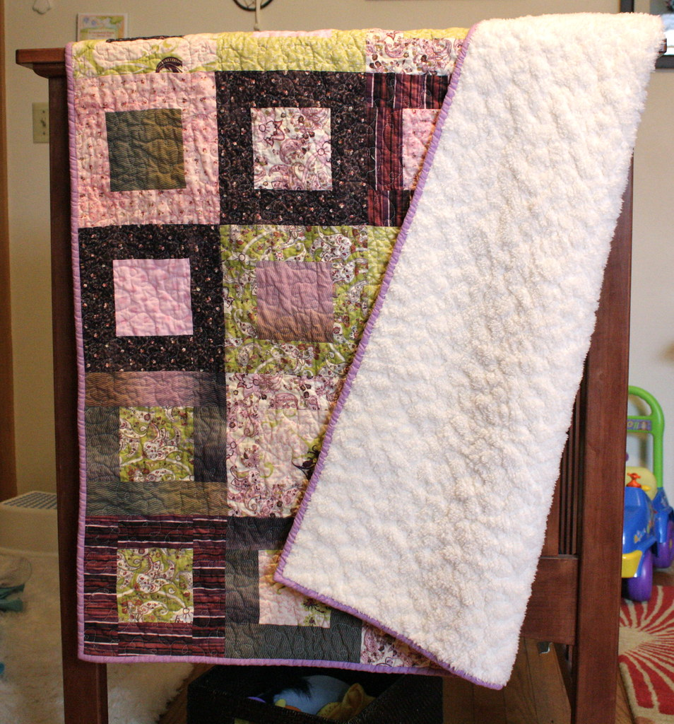 how to make a baby quilt with minky backing