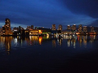 Reflections - Vancouver at Night - waterfront view