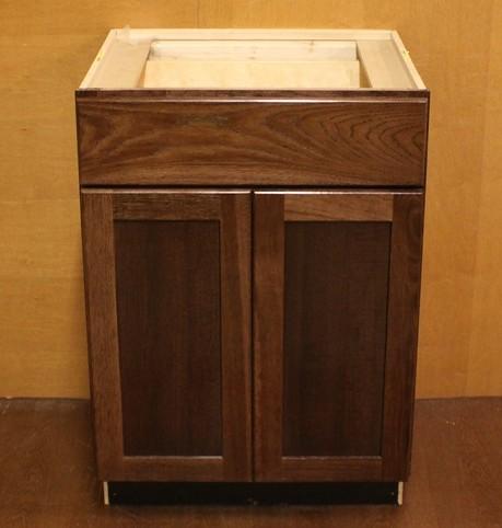 Kraftmaid hickory bathroom vanity sink base cabinet 24 ebay - Kraftmaid bathroom cabinets and vanity ...