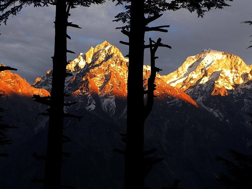 sunset india mountain color colour beauty landscape evening twilight hp dusk peak holy sacred himalaya himachal kinnaur kailas lopamudra kalpa kailasa kinnar