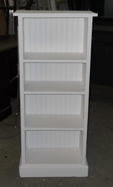 Perfect SOLID PINE WHITE BOOKCASE SMALL WIDE ONE SHELF TWO DRAWERS