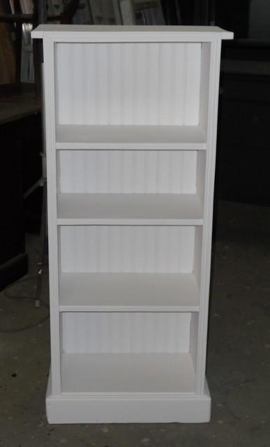 Small White Distressed Bookcase