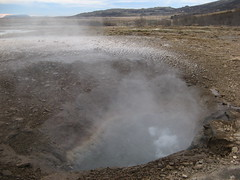 soil, volcanic crater, body of water, geyser, geology, plateau, spring, badlands,