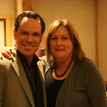 Kurt Elling with WFUV board member Jill Welter. Photo by Laura Fedele