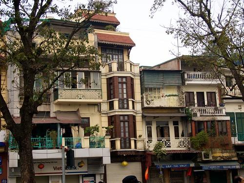 Buildings near Hoan Kiem Lake