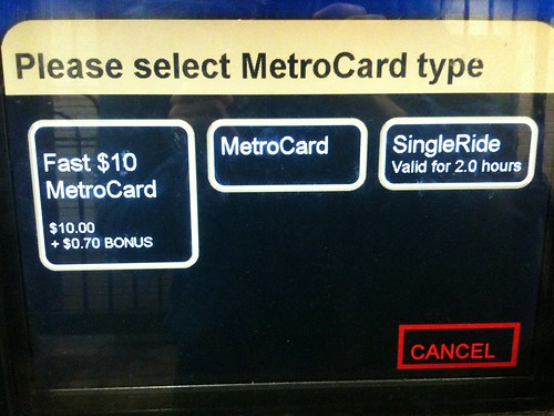 Who signed off on this screen? A MetroCard is not a type of MetroCard!